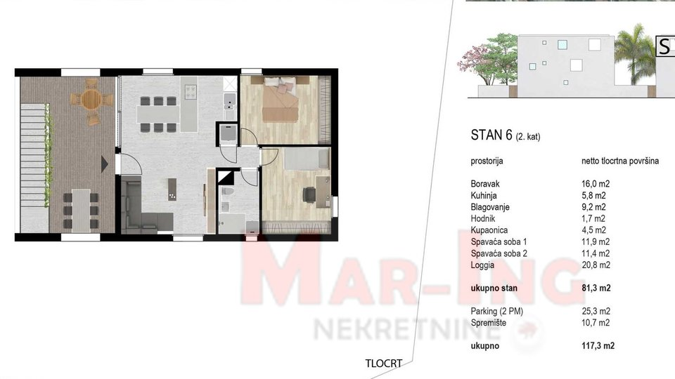 Apartment, 87 m2, For Sale, Zadar - Bulevar